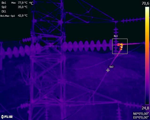 Inspección visual y termométrica de lineas